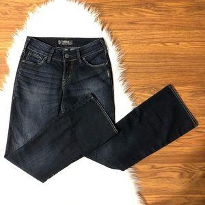 Silver Jeans Suki Dark Denim 4P 4 Petite Flare